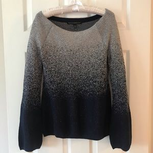 WHBM Navy & silver shimmer sweater